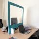 Cloison de bureau transparente